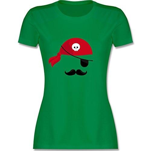 Kostüm Piraten Lustige - Karneval & Fasching - Pirat Kostüm - XL - Grün - L191 - Damen Tshirt und Frauen T-Shirt