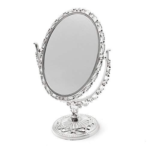 Eitelkeit Make Up Kosmetiktisch Badezimmerspiegel Auf Fuß Stehen Griff Viktorianischen Stil Doppelseitige Swivel Kosmetikspiegel Regelmäßige