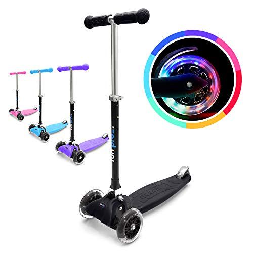 fun pro ONE - der sichere Premium Kinder Roller, LED Räder, faltbar, ab Kleinkind (Kickboard, Tretroller), TÜV geprüft