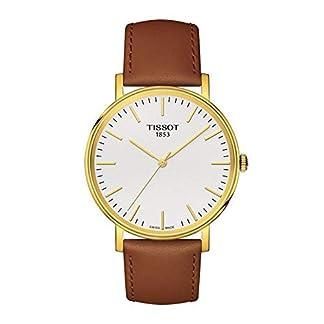 Tissot Reloj Analógico para Unisex Adultos de Cuarzo con Correa en Cuero T1094103603100