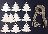 Derwent Laser Craft A Forma di Albero di Natale in Legno 60mm Etichette Regalo/Regalo Etichette Confezione da 10Forme