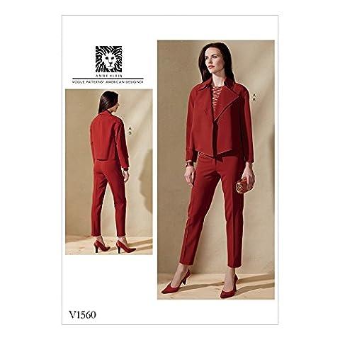 Vogue Patron de couture pour femmes 1560Courroie Veste fin et pantalon
