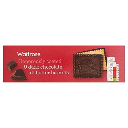 Kontinental Dunkler Schokolade Butterkeks 125G Waitrose (Packung mit 6) (Dunkle Schokolade-cracker)