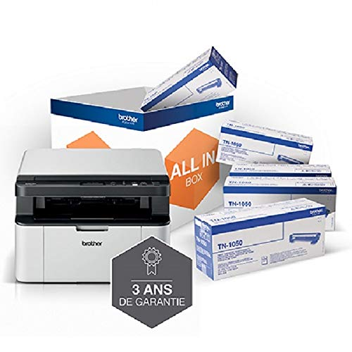Brother DCP-1610W All In Box AE Laser Multifunktions-Drucker (Einfarbig DIN A4, Wi-Fi, All-in-One Pack) + 5 Toner TN-1050 + 3 Jahre Garantie