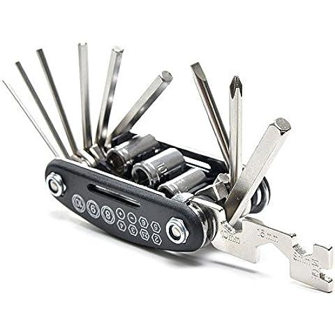 Multifuncional herramienta de bicicleta reparación de bicicletas, plegable llave Cyling