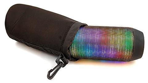 Housse étui pochette noir pour mini enceinte portable bluetooth Sony SRS-X2 NFC, SRS-X3 NFC, SRS-X2/BLK et JVC SP-ABT1 -