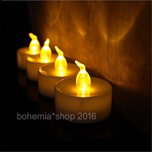 Juego de 12velas eléctricas LED Emotree para decoración, velas sin cera ni llama con control a distancia