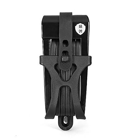 INBIKE Anti-shear de 12tonnes hydraulique Cutter Antivol pour vélo Antivol moto Antivol Candado Vélo électrique portable Mini pliant Lock, Updated Black