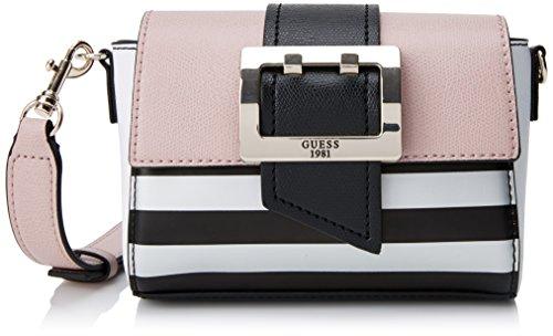 Guess Damen Bags Hobo Shopper, Mehrfarbig (Black Stripe), 6x17x17 centimeters (Guess Hobo-handtasche)