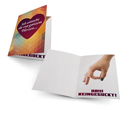Geburtstagskarte lustig zum Geburtstag von Faules Einhorn hochwertiges 300g Papier, ideale Grußkarte für Geburtstag/Muttertag / Hochzeit inklusive Umschlag