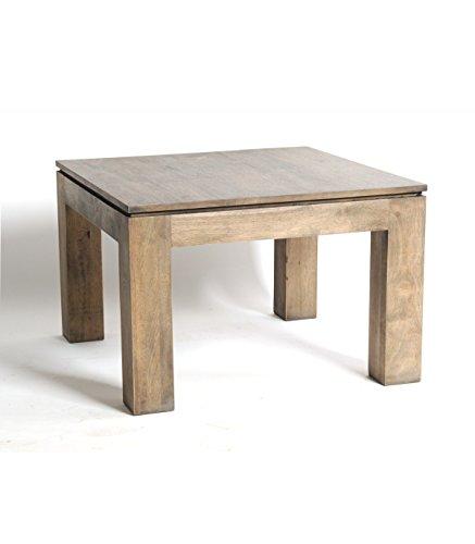 BELDEKO Table basse Carrée en Hévéa Gris Huilé