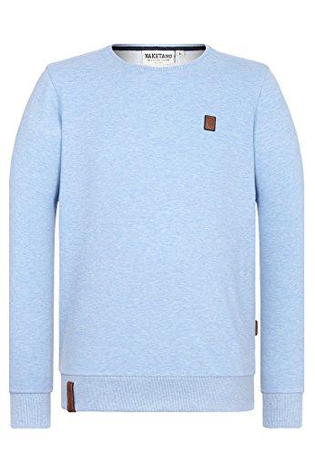 Naketano Male Sweatshirt Kubilay VI Amazing blue Melange
