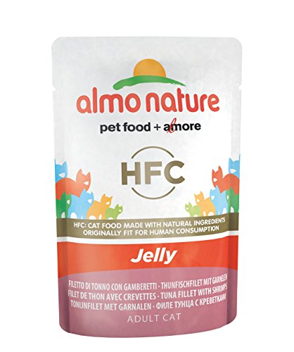 almo nature Cat Food Classic Jelly Sacchetto con tonno e gamberetti