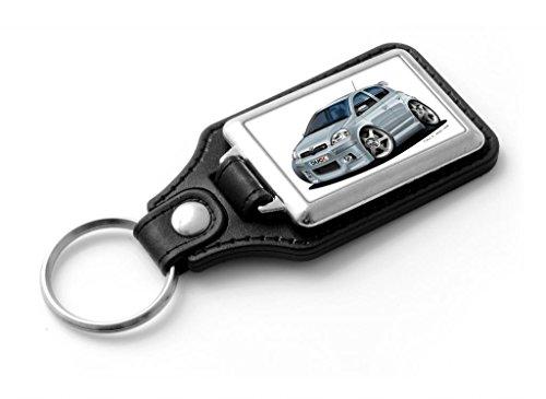wickedartz-cartoon-car-toyota-yaris-ts-silver-classic-style-key-ring