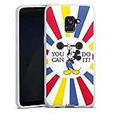 Silikon Hülle kompatibel mit Samsung Galaxy A8 Duos 2018 Case Schutzhülle Disney Mickey Mouse Spruch