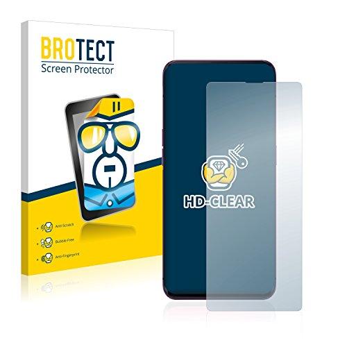 BROTECT Schutzfolie kompatibel mit Oppo Find X [2er Pack] - kristall-klare Bildschirmschutz-Folie, Anti-Fingerprint