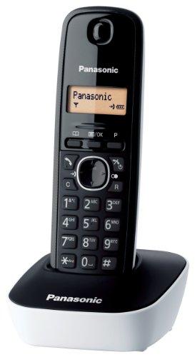 Panasonic KX-TG1611 - Teléfono (DECT, Escritorio, Negro, Color blanco, AAA, Ámbar, Nickel-Metal Hydride (NiMH))