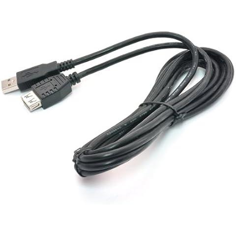 Gear Head 3m USB 2.0 - Cable USB (2.0, USB A, USB A, 480 Mbit/s, 3 m, 245 mm) Negro