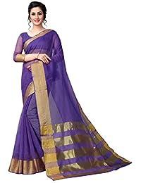 Perfectblue Women's Linen Saree With Blouse Piece (PalluCotton3Variation)