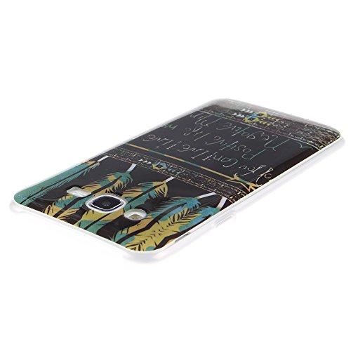 Samsung Galaxy J7 hülle MCHSHOP Ultra Slim Skin Gel TPU hülle weiche weiche Silicone Silikon Schutzhülle Case für Samsung Galaxy J7 - 1 Kostenlose Stylus (Vans von der wand (Vans off the wall)) Tribal Aztec Gefieder Live A positiv Leben (Tribal Aztec Feat