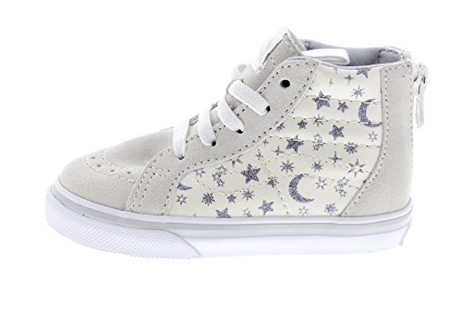 VANS Chaussures Enfants - T SK8-HI ZIP - star glitter white Star Glitter White
