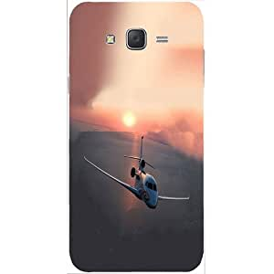 Casotec Jet Sunset Design Hard Back Case Cover for Samsung Galaxy J2