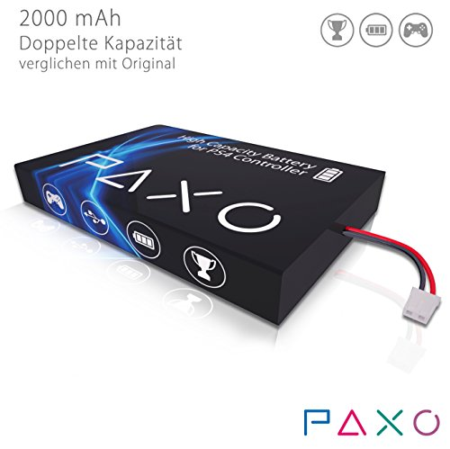 High-Performance Li-Ionen Akku 2000mAh für PS4 Controller // Austausch Set mit Foto-Anleitung und Werkzeug zum Öffnen des Controllers