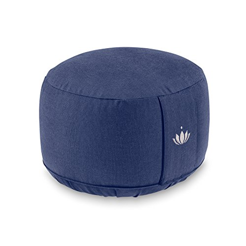 Lotuscrafts Meditationskissen LOTUS, EXTRA HOCH (H:20 cm) Bezug: Baumwolle (kbA), GOTS zertifiziert (Königs Blau)