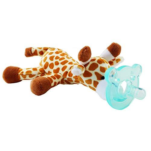mxdmai Giocattoli per Bambini per Gli Animali con Silicone capezzolo Bambino Soothie Ciucci Supporto con Peluche - Style a Caso