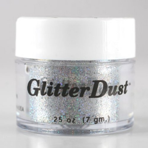 Mehron Glitter Dust - Holographic Silver H (0.25 oz/7 gm) by Mehron