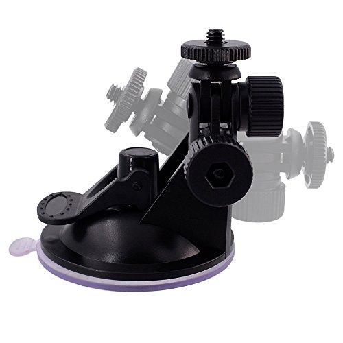 Myarmor adaptateur de filetage 1/10,2cm universel Ventouse pare-brise voiture Dash Cam Caméra support de fixation support rotation à 360