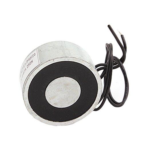 Preisvergleich Produktbild BQLZR Metall 55LB 25kg Elektrohubmagnet Halten Elektromagnet 12V DC 250N