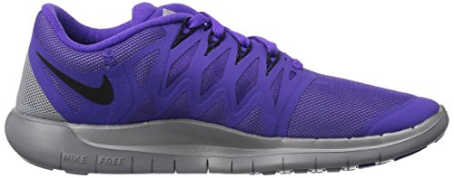 Nike Nike Free 5.0 Flash, Chaussures de running femme Violet (Hyper Grape/Black-Reflect Silver-Wolf Grey 500)