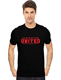 """MUFC"" Manchester United Football Club Fan Art T Shirt In Black And Red Classy Print"