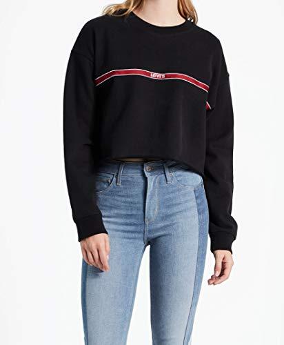 Levis Damen Sweatshirt Graphic RAW Cut Crew 56340-0010 Schwarz, Größe:L