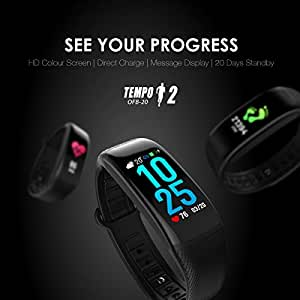 Oraimo Tempo 2 OFB-20 HD Color Screen Heart Rate Monitor Pedometer Fitness Band Bracelet IP67 Waterproof Bluetooth V 4.0
