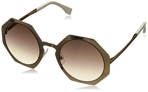 Fendi Damen Sonnenbrille Ff 0152/S Qh, Schwarz (Gold Copper), 51