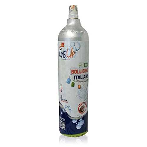 Notebook Gasflasche CO2-1kg gas-up (Kompatibel: Wassermaxx Soda Stream Soda Breezy Happy Frizz Imetec Beghelli)