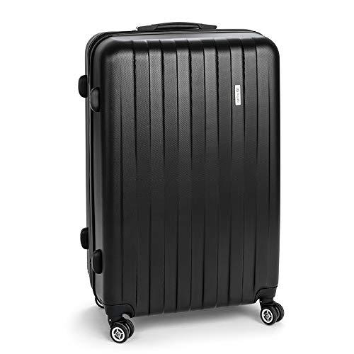 BUGATTI Cosmos Koffer, Hartschale, 75 cm, 91 Liter, 4 Rollen, Teleskopgriff, sehr robust, leicht, schwarz!