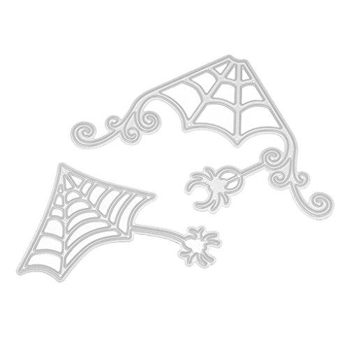 TWIFER Happy Halloween Schön Gehölz Form Schablonen oder DIY Scrapbooking Album Papier Karte, Stahl Schnittmuster DIY Sammelalbum, Stahl Lesezeichen als Geschenk (C:46.4x67.9mm, (Herr Eimer Kostüm)