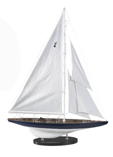 Authentoc Models - AS 152 - J-Yacht Rainbow 1934 - Segelyacht- Modell - 65 x 11 x 85 cm