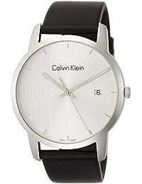 Calvin Klein Reloj Analogico para Hombre de Cuarzo con Correa en Cuero K2G2G1CX