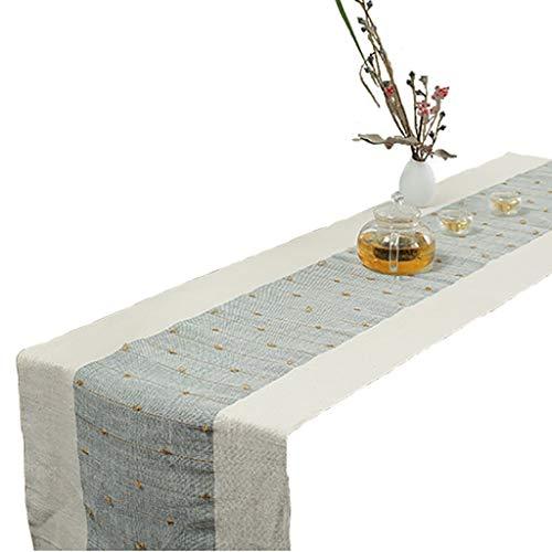 WYQ Leinen Tischläufer Beige, Tischläufer Küche für Familienessen, Zusammenkünfte, Partys, Alltag (6 Größen sind verfügbar) Tischläufer (Farbe : Beige, größe : 45×160cm)