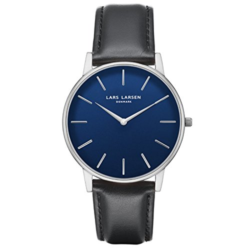 'Lars Larsen Oliver in acciaio inox con quadrante blu 39 mm Watch