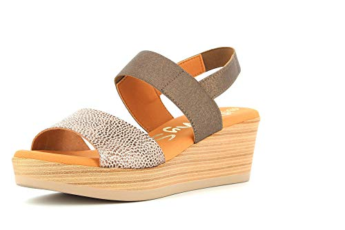 OH! MY SANDALS Zapatos de Mujer Sandalias 4236 Bronce Talla 40 Bronce