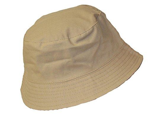 Herren-Wendbar-UniKariert-Summer-Sun-verstaubarer-knautschbar-100-Baumwolle-Bucket-Hat