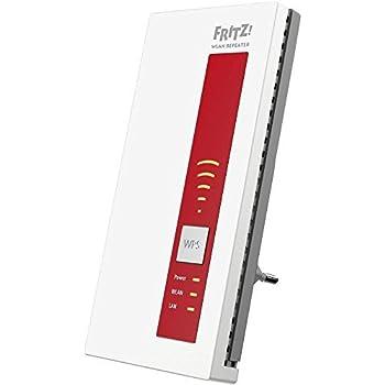 AVM FRITZ! WLAN Repeater 1750E Range Extender Wi-Fi Universale AC 1750, Compatibile con Modem Fibra e ADSL, Access Point, Bridge, 1 LAN Gigabit