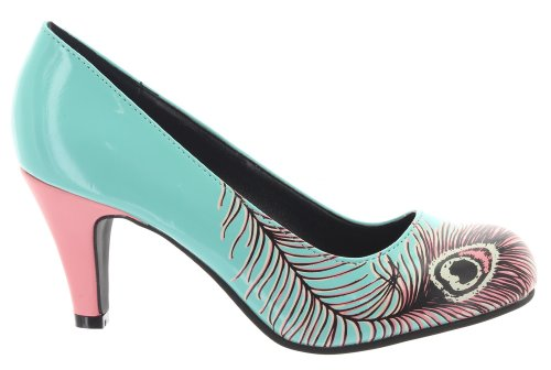 T.U.K. Pumps PEACOCK FEATHER A8481L Turquoise