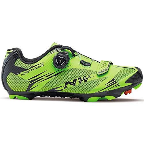 Northwave Scorpius 2 Zapatos y bicicleta de montaña, ACIDE GREEN/BLK, Tamaño:gr. 46