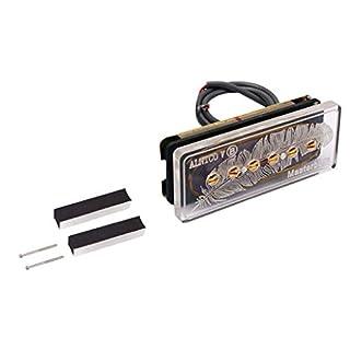 Electric Guitar Soapbar Pickup P90 Neck Bridge Us Seller Alnico V Clear